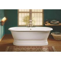Cheviot 2121-WW Pedestal Bathtub with Continuous Rolled Rim in White