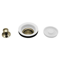 Rohl 739TCBALL Brass Construction Strainer Baskets With Remote Pop-up Controls in Tuscan Brass