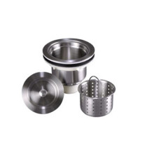 """Lenova A-SS-02 Solid Stainless Steel 3 1/2"""" Kitchen Strainer"""