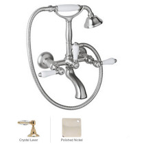 Rohl A1401LCAPC Country Bath Exposed Tub Set Shower Mixer In Polished Chrome