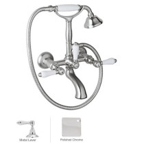 Rohl A1401LMAPC Country Bath Exposed Tub Set Shower Mixer In Polished Chrome