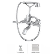 Rohl A1901XMAPC Palladian Exposed Tub Set With Handshower In Polished Chrome
