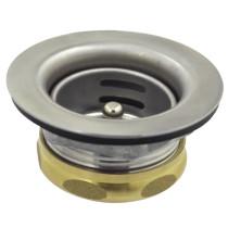 Gourmetier K461B Stainless Steel Duo Bar Strainer with Brass Nut in Satin Nickel