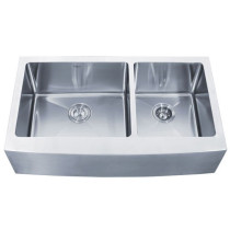 Kraus KHF203-36 36 inch Farmhouse Double Bowl Stainless Steel Kitchen Sink