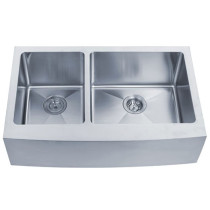Kraus KHF204-33 33 inch Farmhouse Double Bowl Stainless Steel Kitchen Sink
