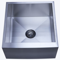 Gourmetier KUF212110BN Denver Single Bowl Kitchen Sink in Satin Nickel