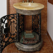 Quiescence VAN-GLRY-HO Glory Pedestal with Integrated Honey Onyx Basin