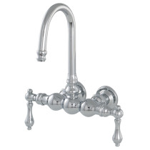 Tub Filler Faucet For Wall Mount In Polished Chrome