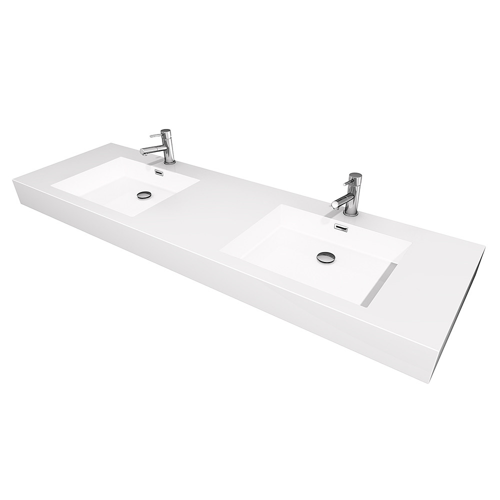 Vanity Tops With Integrated Sink : Wyndham wcr ar double vanity with acrylic resin top