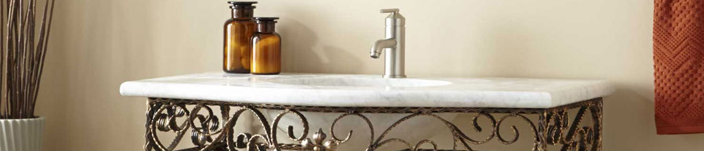 Superieur Iron Bathroom Vanities Are Sure To Add Interest To Your Bathroom. These Bathroom  Vanities Have Wrought Iron Legs With Or Without Storage Space And Different  ...