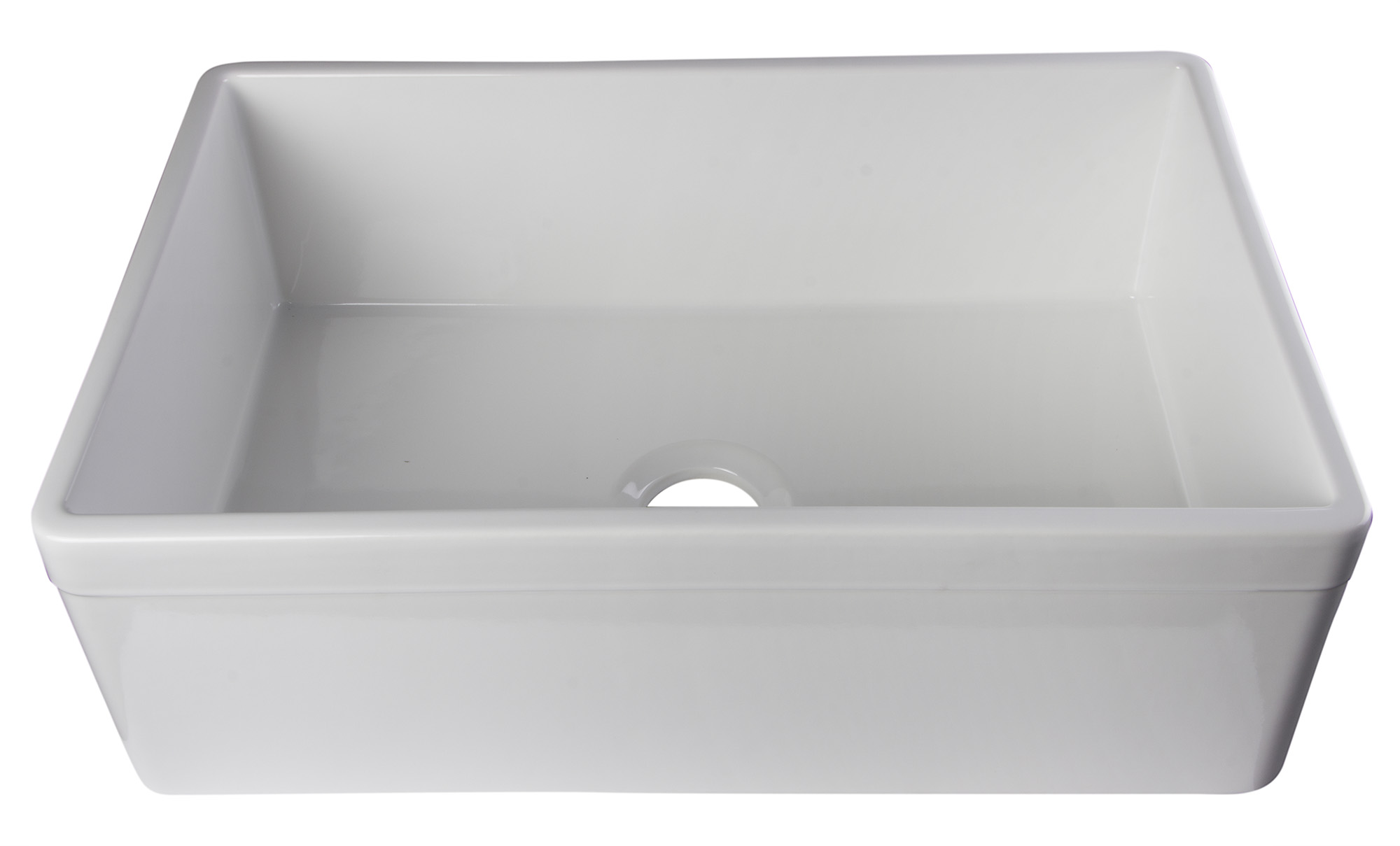 Alfi Brand Ab511 30 White Farm Sink With Lip Single Bowl Design For Kitchen