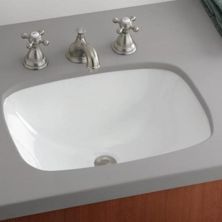 Cheviot 1116 Wh Ibiza Undermount Basin Without Faucet Drilling In White