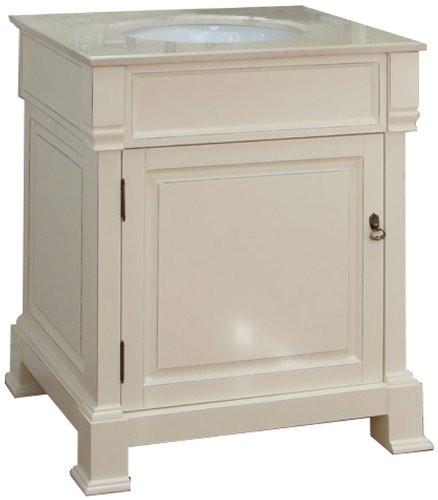 Bellaterra home 205030 cr 30 inch cream white single sink - 30 inch white bathroom vanity with sink ...