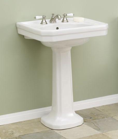 Cheviot 511 25 Wh 8 Large Mayfair White Pedestal Sink 8 Quot Faucet Drilling