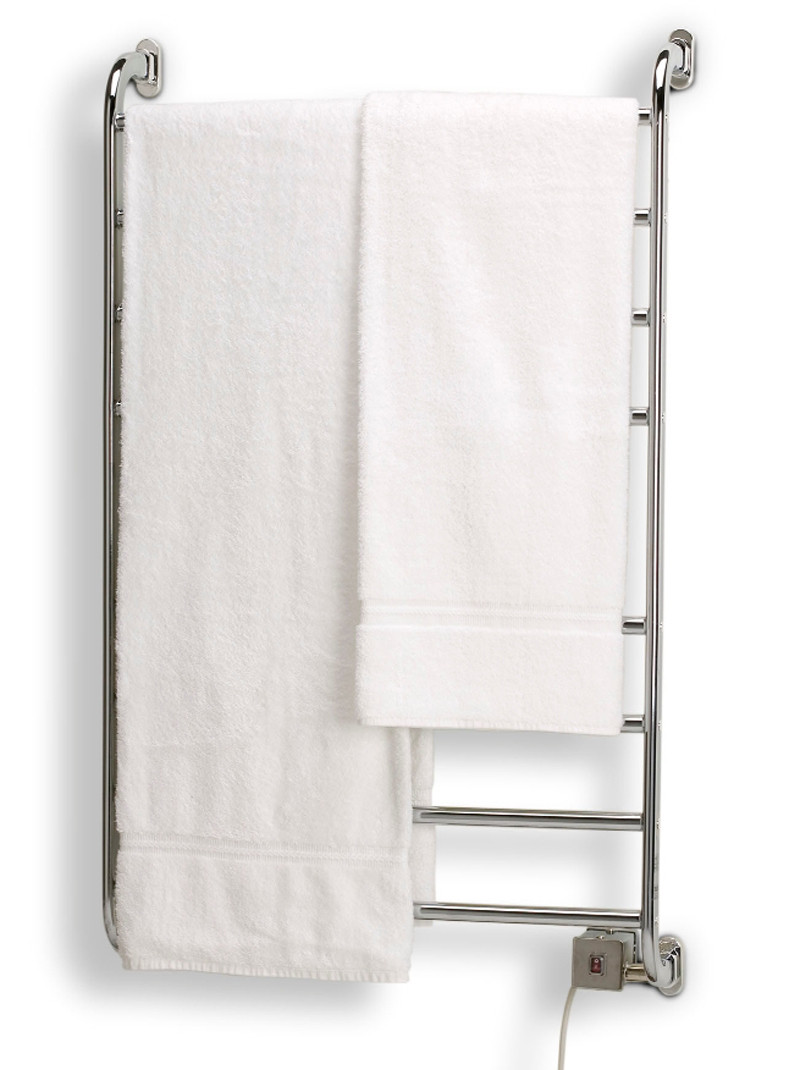 Warmrails Hskc Kensington Wall Mounted Chrome Bath Towel