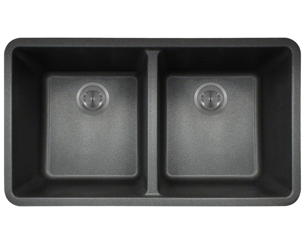 Polaris P208 Double Equal Bowl Granite Kitchen Sink