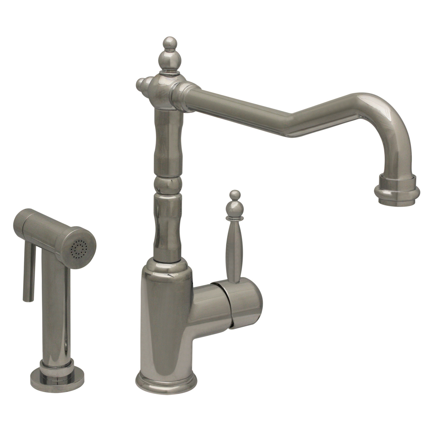 Whitehaus Wh2070800 Kitchen Faucet With Traditional Swivel