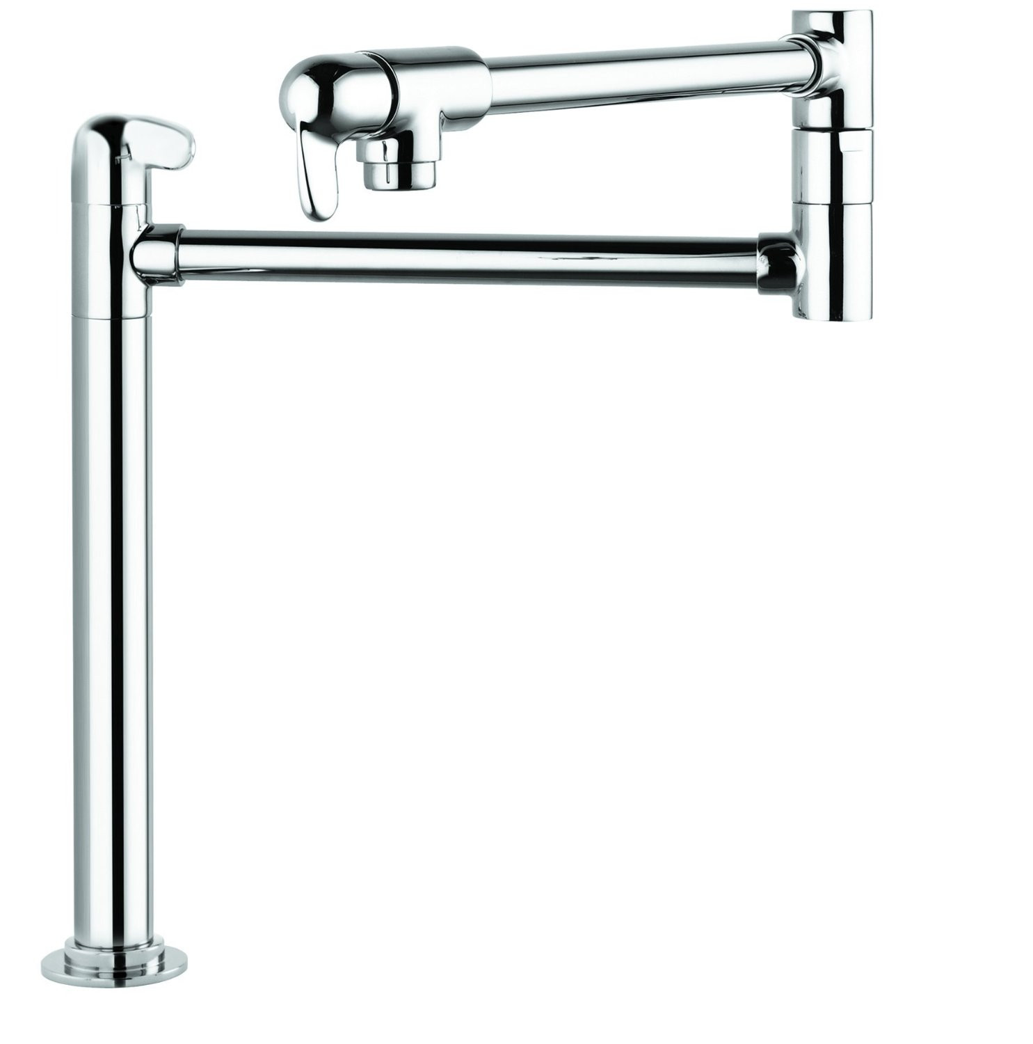 hansgrohe 04060000 Allegro E Deck Mount Potfiller Stand in Chrome