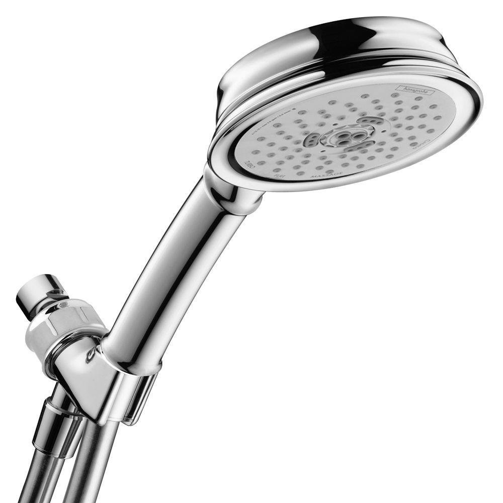 hansgrohe 04190003 Croma C 100 3-Jet Settings Hand Shower Set in Chrome