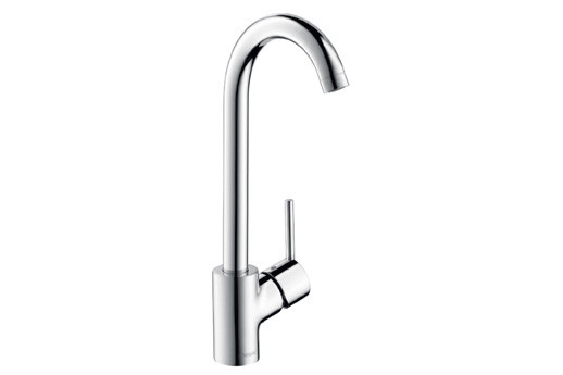 hansgrohe 04287 Talis S 2 Gooseneck Single Hole Lever Handle Bar Faucet