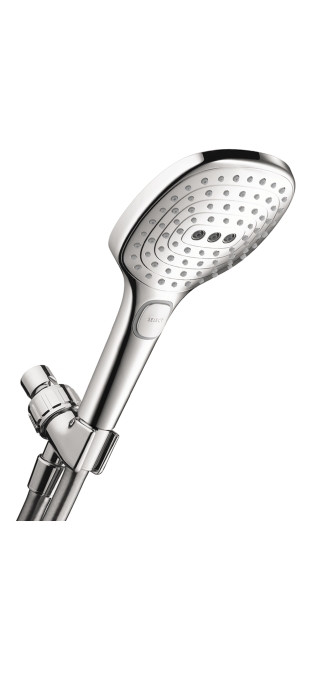 hansgrohe 04541000 Chrome RD Select E 120 AIR 3-Jet SAM Showerhead Set