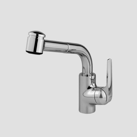 KWC 10.061.003 Single Hole Pull Out Lever Handle Kitchen Faucet