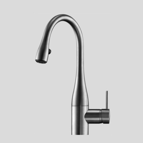 KWC 10.111.102 Single Hole Pull Down Lever Handle Kitchen Faucet