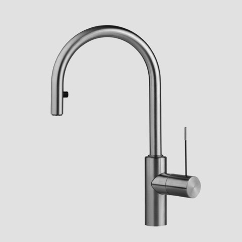 KWC Single Hole ADA Compliant Gooseneck Kitchen Faucet