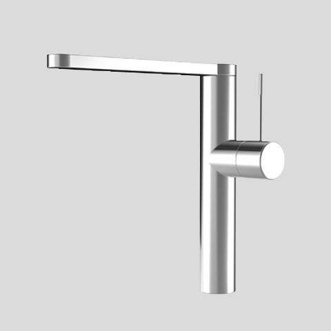 KWC Single Hole 360-Degree Swivel Spout Kitchen Faucet