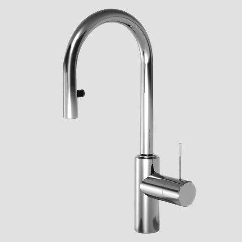 KWC 10.151.991 Single Hole Swivel Spout Pull Down Kitchen Faucet