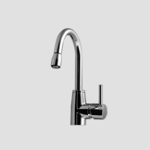 KWC 10.501.012 Single Hole Swivel Spout Pull Down Kitchen Faucet