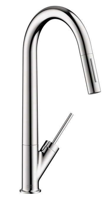AXOR 10821001 Starck Brass Single Hole HighArc Kitchen Faucet AZB in Chrome
