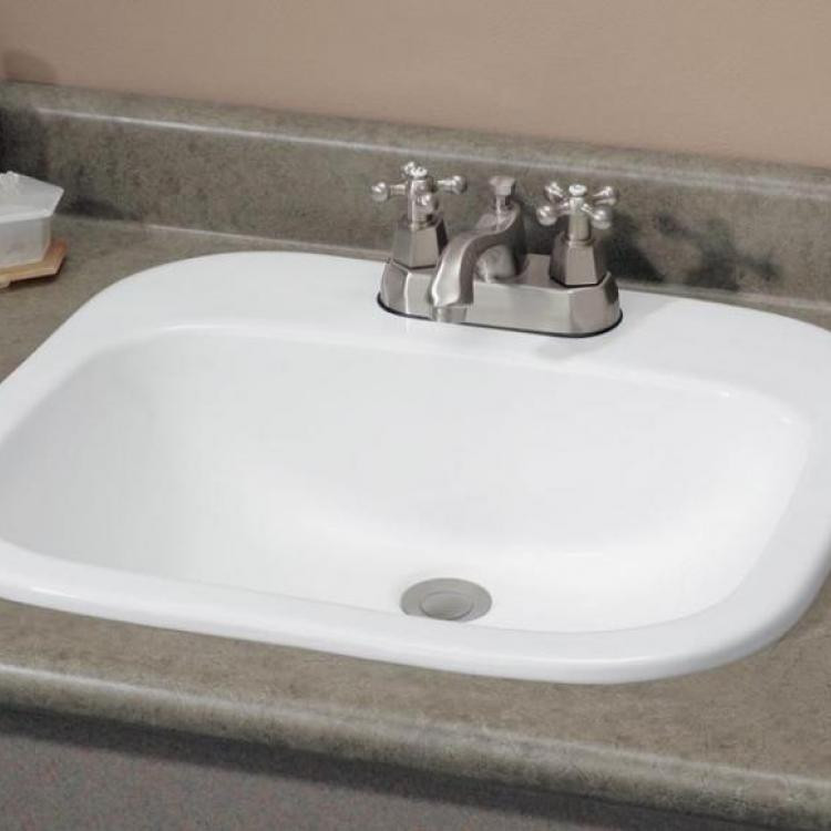 "Cheviot 1108-..-4 Ibiza Drop-In Basin with 4"" Faucet Hole Drilling"