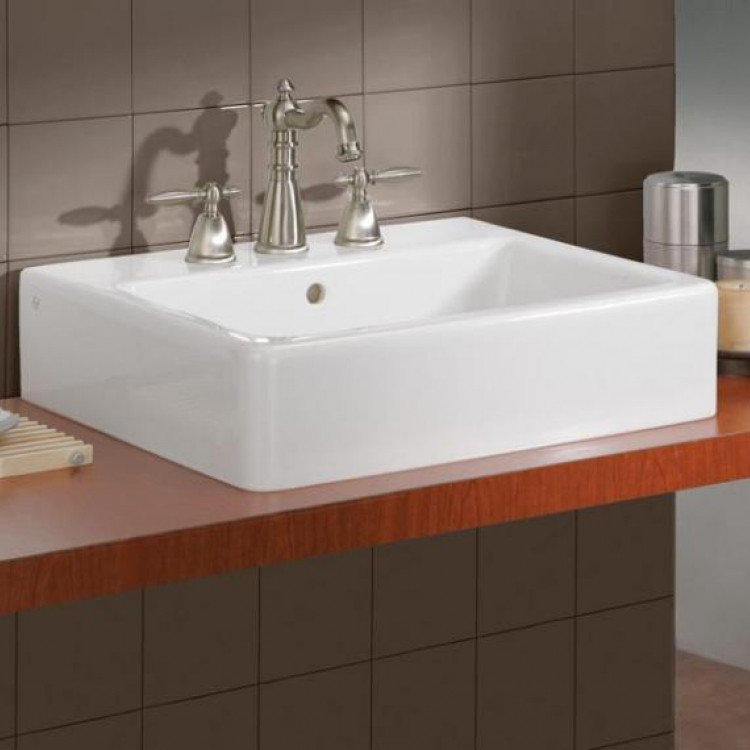 Cheviot 1230-19-WH-1 Nuovella Vessel Sink with Single Hole Drilling in White