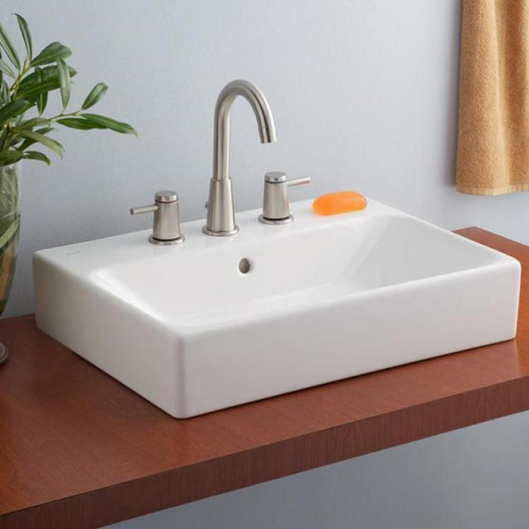 Cheviot 1232-WH-1 Nuo Vessel Sink with Single Hole Drilling in White