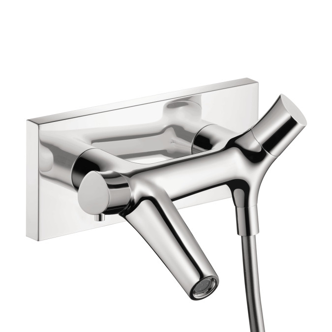 AXOR 12410001 Starck Organic Thermostatic Tub Filler Wall Mounted in Chrome