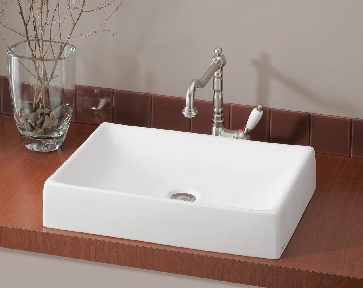 Cheviot 1246 QUATTRO Rectangular Single Bowl Bathroom Vessel Sink