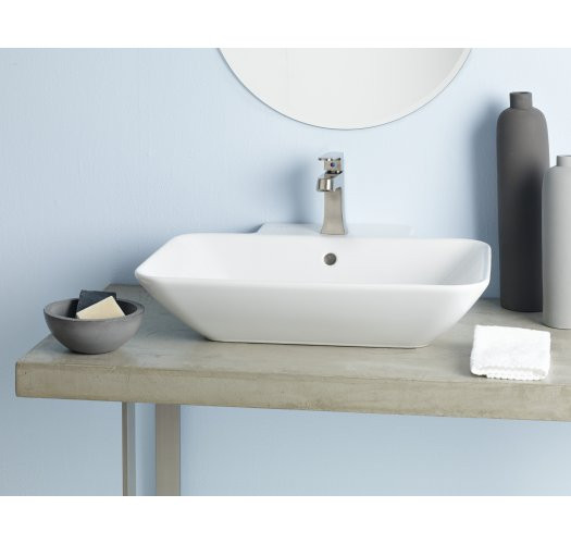 Cheviot 1275-WH-1 Fireclay Element Rectangular Vessel Sink in White