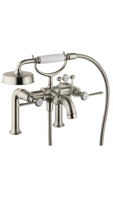 AXOR 16552821 Montreux Tub Filler with Lever Handle in Brushed Nickel