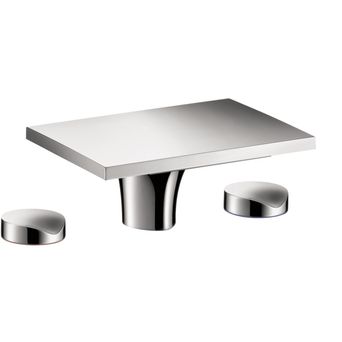 AXOR 18015001 Massaud Knob handle Widespread Faucet no Pop-up in Chrome