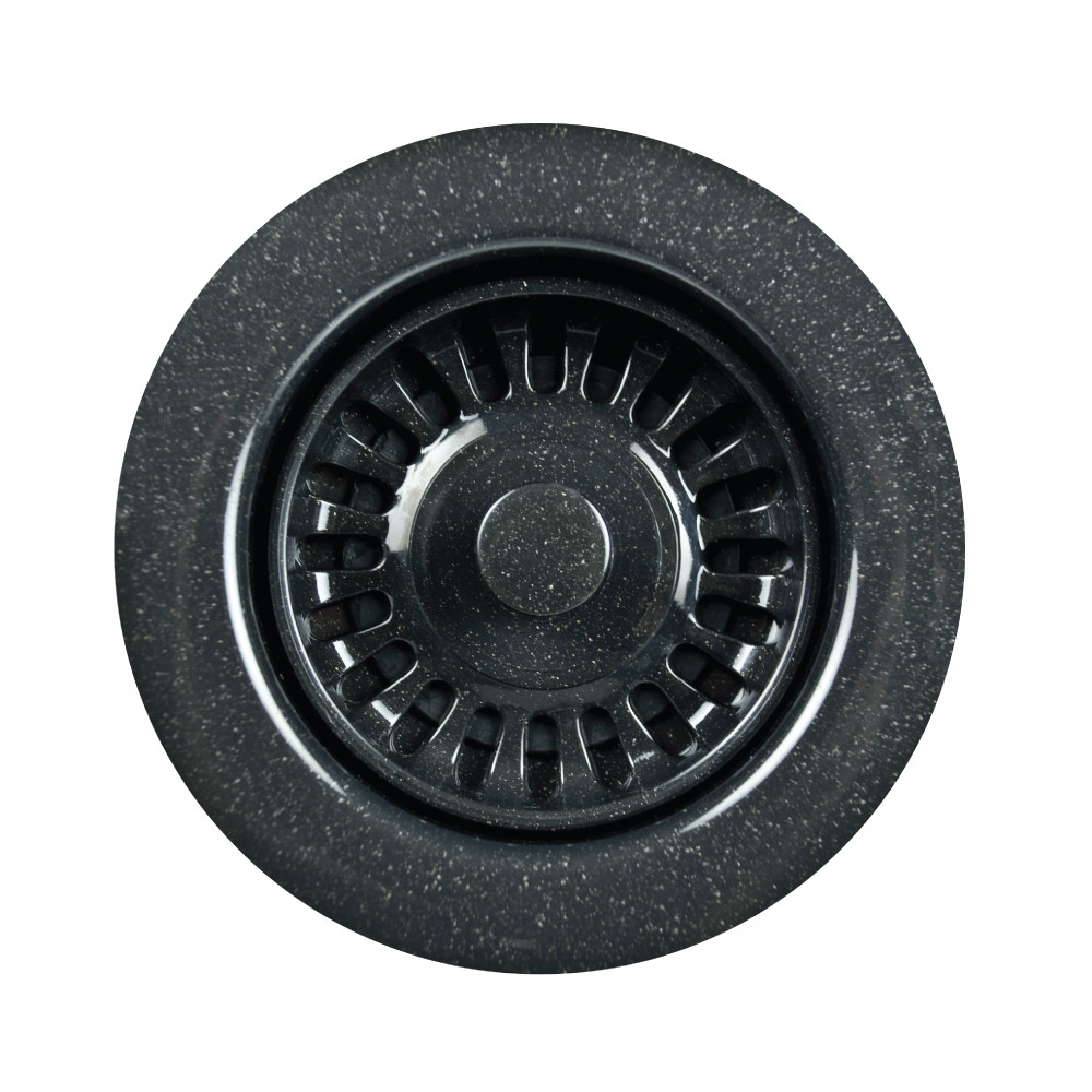 Houzer 190-9568 Preferra Speckled Disposal Flange Kitchen Drain In Granite Black