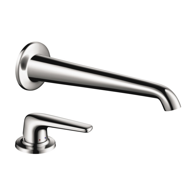 AXOR 19137001 Bouroullec Bathroom Wall Mount Faucet with Deck Mount Handle