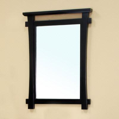 Bellaterra Home 203012-MIRROR Solid Wood Frame Bathroom Rectangle Mirror