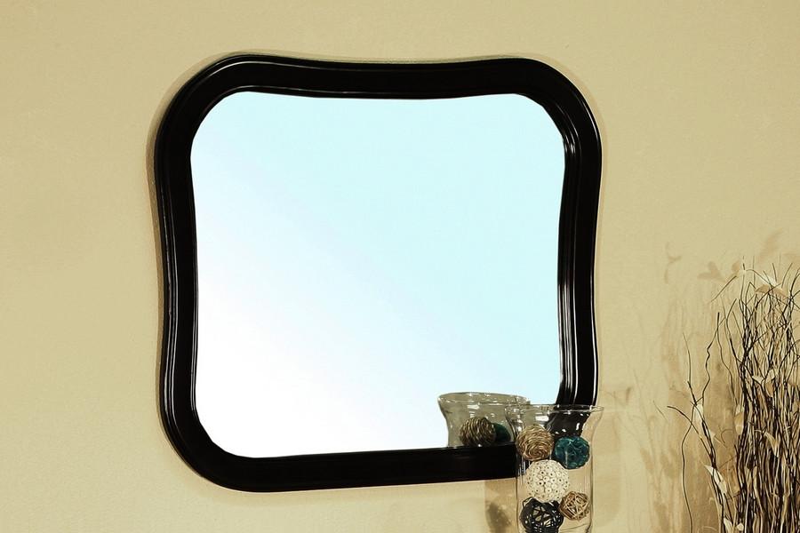 Bellaterra Home 203037-MIRROR-ES Wallmount Solid Wood Frame Mirror in Black