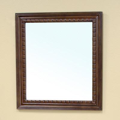 Bellaterra Home 203045-MIRROR Solid Wood Frame Mirror - Medium Walnut