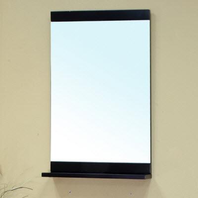 Bellaterra Home 203107-MIRROR Solid Wood Frame Black Bathroom Mirror