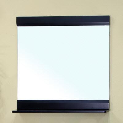 Bellaterra Home 203110-MIRROR Solid Wood Frame Black Bathroom Mirror