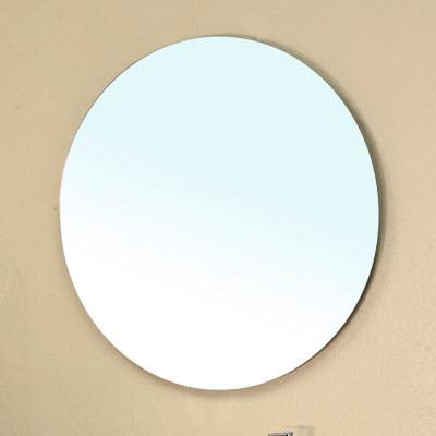 Bellaterra Home 203117-MIRROR 27 In. Frameless Round Bathroom Mirror