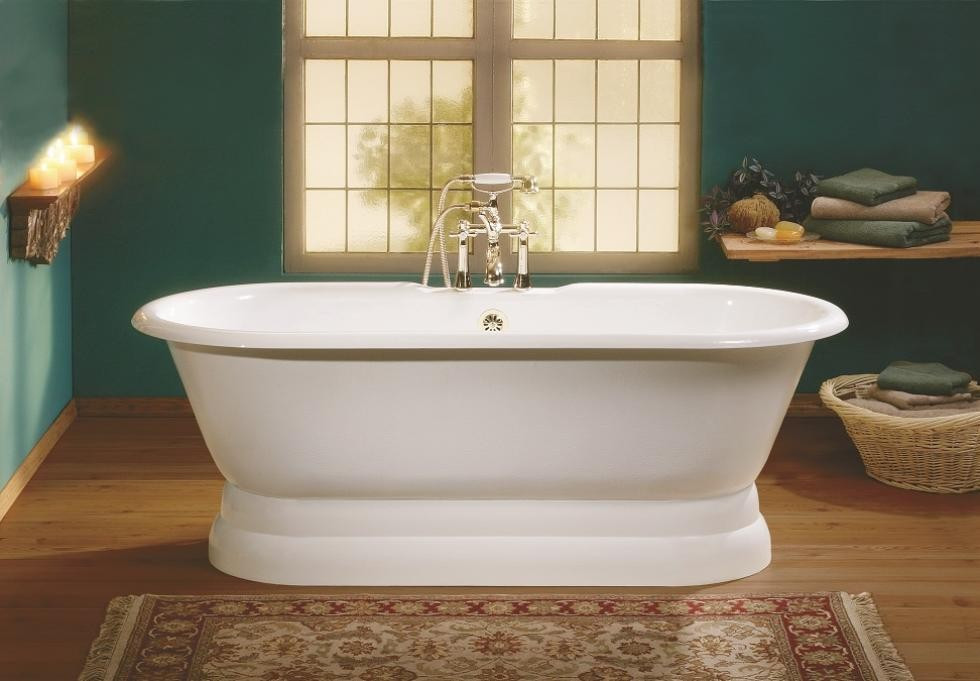 Cheviot 2120-BB-6 Regal Cast Iron Bathtub with Pedestal Base and 6 Inch Drilling