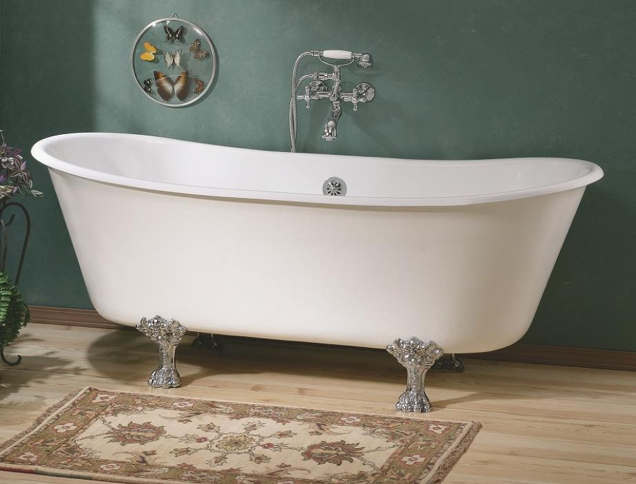 Cheviot 2122-WW Winchester Clawfoot Oval Cast Iron Bathtub in White
